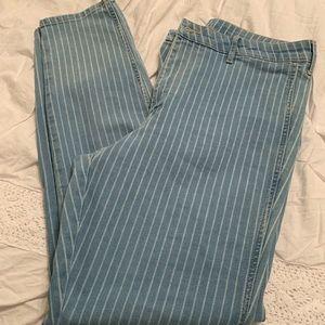 Striped jeans. Flawless size 33